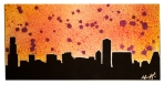 Chicago Splatter Skyline 12 x 24 SOLD