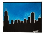 "Chicago Blues, 2014, 11"" x 14"", SOLD"