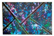 "Splattered Angles, 2014, 24"" x 48"", SOLD"