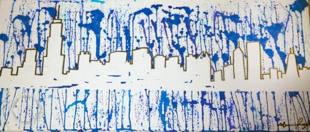 "Paint Drip Chicago, 2012, 12"" x 24"", SOLD"