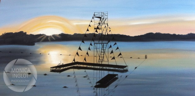 "Camp Eberhart Sunrise 2, 2013, 24"" x 48"", Commissioned Piece"