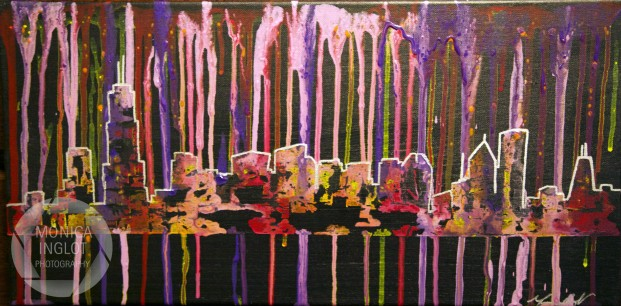 "Paint Drip Chicago 2, 2012, 12"" x 24"", SOLD"