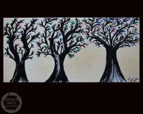 "Three Trees, 2012, 12"" x 24"", SOLD"